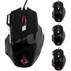 HOT SALE!Professional 1000DPI-5500 DPI  7 Buttons LED USB Optical Wired Gaming Mouse  Mice computer mouse For Pro Gamer