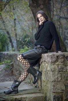 Πλεκτή μπλούζα ζιβαγκάκι σε μαύρο χρώμα onesize Goth, Punk, Winter, Style, Fashion, Gothic, Winter Time, Swag, Moda