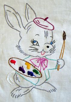 Artistic rabbit by sewclever, via Flickr