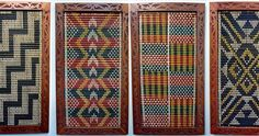 These ' Tukutuku ' panels were first gifted to Kohia Education Centre when it was housed in Kohia Terrace just over 20 years ago. Maori Patterns, Ethnic Patterns, Weaving Patterns, Flax Weaving, Sliding Wall, Maori Designs, Waldorf Crafts, New Zealand Art, Maori Art