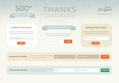Free Awesome Newsletter Signup UI Kit - http://www.vectorarea.com/free-awesome-newsletter-signup-ui-kit