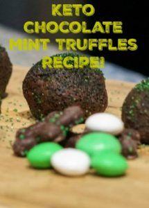 My delicious Keto Mint Chocolate Truffle Recipe!