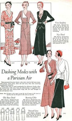 what-i-found: Supple Silhouettes and Dashing Modes - Dresses from 1931