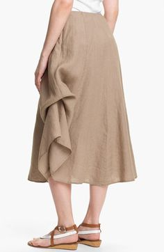 Handkerchief linen a-line skirt with ties for bustling, by Eileen ...