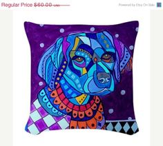 20 OFF Brittany Spaniel Art Pillow  Dog Woven by HeatherGallerArt, $48.00