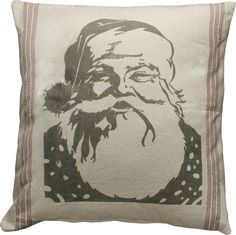 Large Santa Face Pillow
