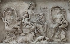 Panel of Tellus. Rome, Museum of the Altar of Augustan Peace (Ara Pacis Augustae) (Roma, Museo dell'Ara Pacis) Plaster Sculpture, Roman Sculpture, Art Sculpture, Ice Sculptures, Ancient Rome, Ancient Art, Ancient History, Art History, Paintings