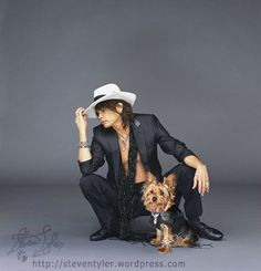 Steven Tyler and his dog