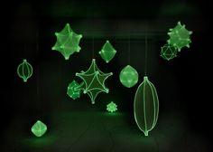 3ders.org - 3D printed Radiolaria shaped lamps glow in the dark | 3D Printer News & 3D Printing News