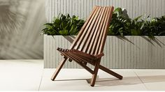 maya wood outdoor chair | CB2 #cb2contest #cb2sweeps