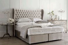 Discover the most comfortable bed you'll ever know at Hypnos Beds. Custom made beds with a British heritage and Royally Approved. Find your nearest bed retailer today! Comfort Mattress, Bed Mattress, Divan Sets, Most Comfortable Bed, Home Inventory, Bed Company, Mattress Springs, How To Make Bed, Bedding Collections