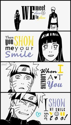 Smiles. Uzumaki Naruto   Hyuga Hinata   NaruHina  Never give up, my darlings. We'll last through till the end.... and we will go down with our ships!