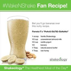 PeAnUt BuTtEr BaNaNa! Shakeology recipe.  Get your Shake ology at www.amylensing.com