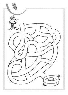 Actividades para imprimir Laberintos. http://www.pequescuela.com/actividades-preescolar-imprimir-laberintos8.html