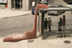 Bus Stop Symbiosis: An interactive seating arrangement for the waiting