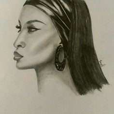 """50 Likes, 5 Comments - Dedicated to Art 🇮🇳 (@creativitytrance) on Instagram: """"Today's inspiration - Gorgeous Naomi Campbell!! I felt a bit improvement in this portrait,…"""""""