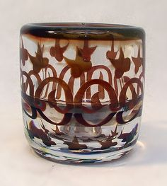 1916 orrefors graal glass   Ingeborg Lundin, (Swedish, 1921-1992), Orrefors, Graal Glass Vase.