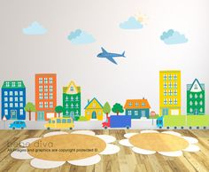 City Wall Decals Wall Decals Nursery Kids Wall Decals Wall