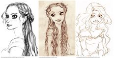 The first sketches of Rapunzel