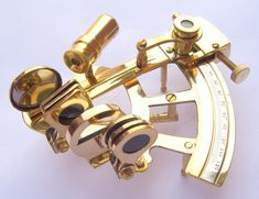Nautical Working Instrument Astrolabe Ships Maritime Gift Sextant Marine 4 Solid Brass Sextant