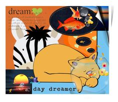 """Orange Day Dreamer"" by no-where-girl ❤ liked on Polyvore featuring art"