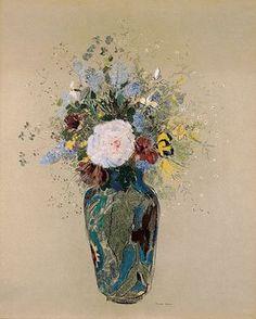 "Odilon Redon ""Vase of Flowers"" 1909 -1916"