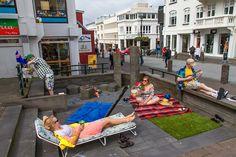 Sun Bathing Reykjavik