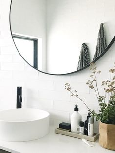 Would love a mirror like this for the mudroom bathroom! I think Target has them pretty cheap!