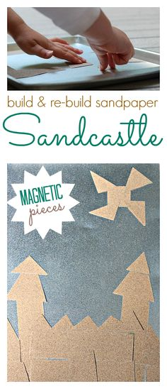 This magnetic sand castle activity is great for tactile exploration and fine motor skills.