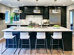 beautiful dark kitchen cabinets