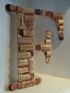 Wine Cork Monogram for a wedding at a vinyard perhaps?