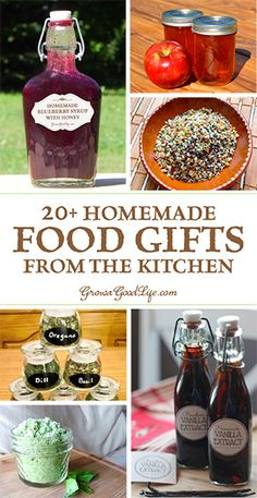 Create some homemade food gifts that everyone will enjoy. Need some ideas? Here … Create some homemade food gifts that everyone will enjoy. Need some ideas? Here are some culinary inspired presents that you can make in your kitchen. Diy Food Gifts, Edible Gifts, Food Crafts, Homemade Food Gifts In A Jar, Creative Homemade Gifts, Best Food Gifts, Homemade Recipe, Handmade Christmas Gifts, Edible Christmas Gifts