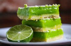 Creamy Lime Squares Recipe.