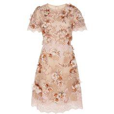 Floral Embellished Cocktail Dress | Moda Operandi ($2,995) ❤ liked on Polyvore featuring dresses