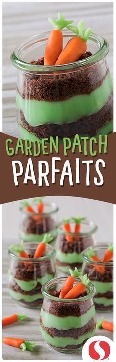 Garden Patch Parfaits will make a delicious and festive Easter dessert! Make and enjoy all spring long for a seasonal sweet treat!