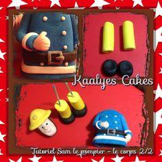 image Fireman Sam Cake, Fondant Animals, Fondant Decorations, Fondant Tutorial, Fondant Cupcakes, Cake Decorating, Polymer Clay, Hobbit, Sweets