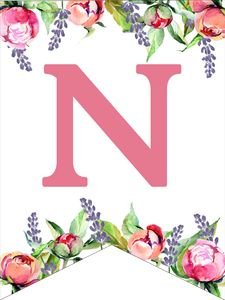 Make a personalized flower banner message fora birthday party, baby shower, or wedding. Alphabet A, Free Printable Alphabet Letters, Alphabet Letters Design, Flower Alphabet, Alphabet Wallpaper, Floral Banners, Paper Flowers Wedding, Paper Trail, Class Decoration