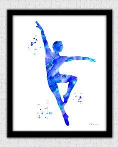 Bailarín de ballet clásico impresión masculino por FluidDiamondArt