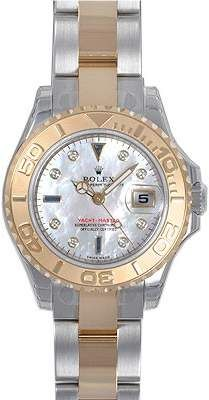 c50408dc7 Rolex Yacht-Master Mother of Pearl Dial Stainless Steel and 18K Yellow Gold  Oyster Bracelet