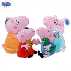 Doll Original Peppa Pig George Page Dad and Mom Purse Plush Toys Cartoon Family Animal Stuffed Plush Boys and girls Toys Gifts Plush Dolls, Doll Toys, Peppa Pig Colouring, Peppa Pig Family, Pig Character, Childrens Gifts, Toys For Girls, Boy Or Girl, Cartoon Family