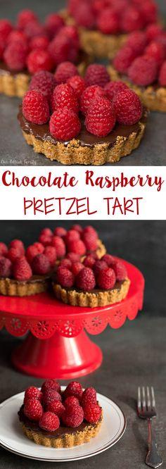 Chocolate Raspberry Pretzel Tartlet #SnackStories #SnackSnapShare #ad