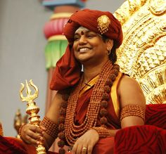 Even though this is a jewelry board, I can't resist repining this stunning photo of my Gurudeva, Swamiji Nithyananda. He is radiating so much grace and beauty in traditional Shaivite Hindu adornment, made of gold a Rudraksha seeds. Jai Gurudev!  You can find similarly styled, authentic Hindu jewelry blessed by the Master here:  http://www.nithyanandagalleria.com/