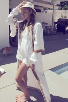 Wildfox Couture Garden Party Vacation Dress in Coconut WAS $129 NOW ONLY $103.20