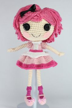 LALALOOPSY Crumbs Loves Chocolate Amigurumi Doll by Npantz22.deviantart.com on @deviantART