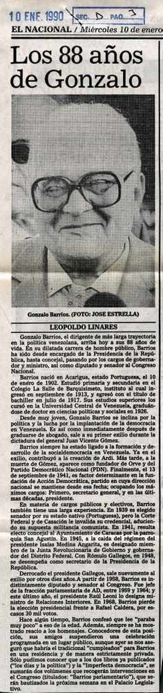 """""""Los 88 de Gonzalo"""" Publicado el 10 de enero  de 1990"""