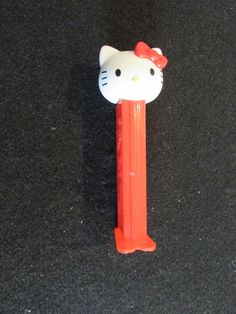 4e2175585 You are purchasing a Used, Hello Kitty Red Bow Pez Candy Dispenser.