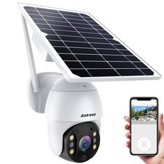 Ankway Solar Security Camera Outdoor with 18000mAh Rechargeable Battery, Wireless Security Camera System, 2.4G WiFi Cam 1080P FHD Color Night Vision Brand: Ankway Color: Black Features: 🔋【Upgraded 18000mAh Battery & Rechargeable Solar Panel】Work-Preloaded with 6pcs batteries, Ankway Solar Security Camera Outdoor allowing the security camera to work flawlessly even in continuous rainy days or low light, and get Non-Stop solar power supply with its own solar panel.No worries to take it down t Wireless Cctv Camera, Wireless Security Camera System, Solar Camera, Ptz Camera, Diy Home Cleaning, Outdoor Camera, Home Security Systems, Security Cams, Security Cameras For Home
