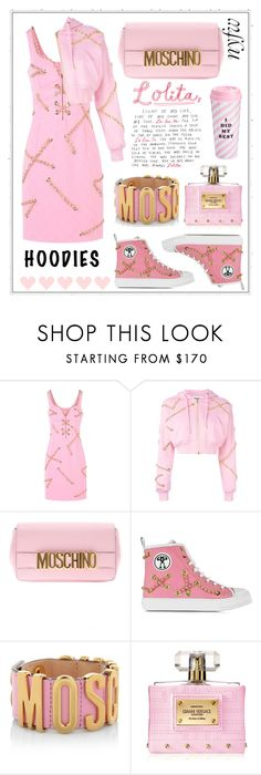 """Untitled #333"" by meryflower ❤ liked on Polyvore featuring Moschino, Versace, ban.do, NYFW and hoodie"