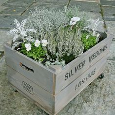 Silver Wedding personalised Anniversary Gift crate