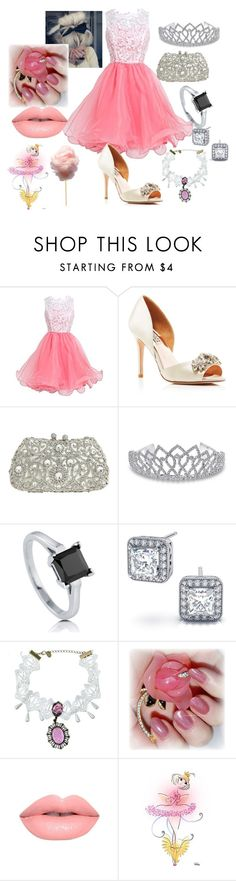 """""""~ Princess 4 ~"""" by moniquedawson09123 ❤ liked on Polyvore featuring Badgley Mischka, Natasha Couture, Bling Jewelry, BERRICLE, Roseate and Lime Crime"""